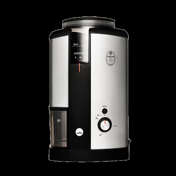Wilfa Svart home coffee grinder in silver